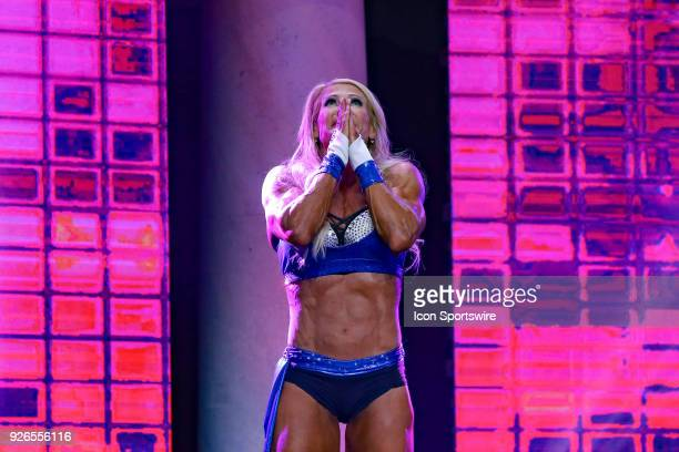 Whitney Jones reacts as she is names winner of Fitness International as part of the Arnold Sports Festival on March 2 at the Greater Columbus...