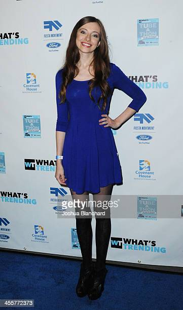 Whitney Milam arrives at The 2nd Annual TubeAThon to benefit Covenant House at YouTube Space LA on December 12 2013 in Los Angeles California