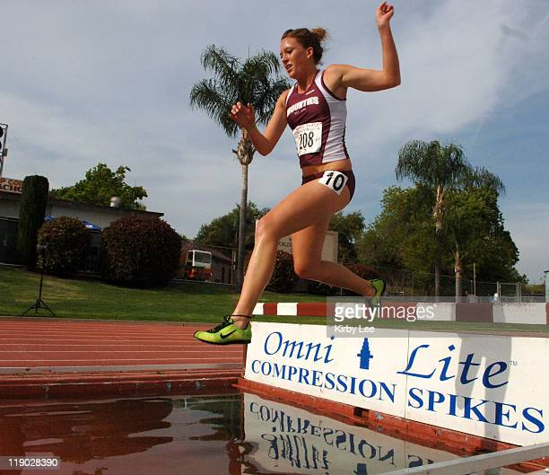 Whitney Patton of Mt. San Antonio College won the women's steeplechase in 11:24.5 in the Southern California Junior Track & Field Championships at...