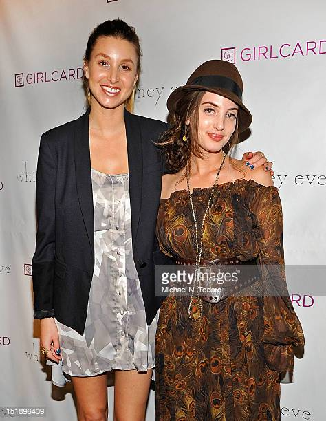 Whitney Port and Alexa Ray Joel attends the Whitney Eve show during Spring 2013 MercedesBenz Fashion Week at The Studio Lincoln Center on September...