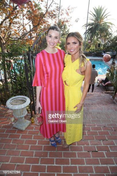 Whitney Port and Audrina Patridge attend the PREY SWIM 'Summer in December' Fashion Show hosted by Audrina Patridge at the residence of Jonas Tahlin...