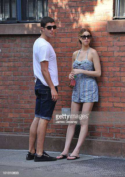 Whitney Port and her boyfriend Ben Nemtin are seen on the streets of Manhattan on May 30 2010 in New York City