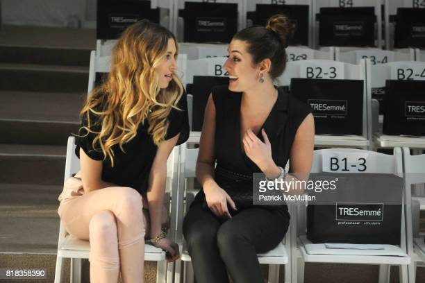 Whitney Port and Samantha Swetra attend CHARLOTTE RONSON Fall 2010 Collection at Bryant Park Tents Promenade on February 12 2010 in New York City