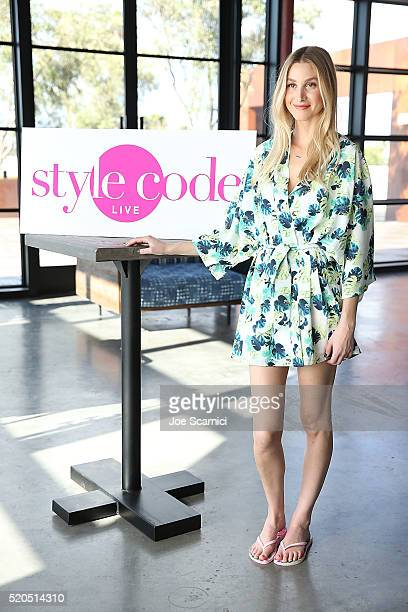 Whitney Port appears on Amazon's 'Style Code Live' at PLATFORM in Hayden Tract on April 11 2016 in Culver City California