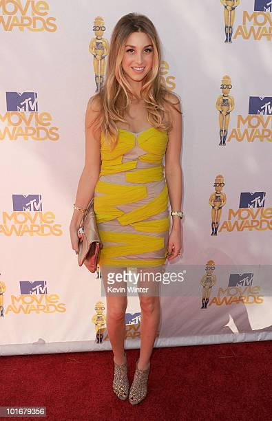 Whitney Port arrives at the 2010 MTV Movie Awards held at the Gibson Amphitheatre at Universal Studios on June 6 2010 in Universal City California
