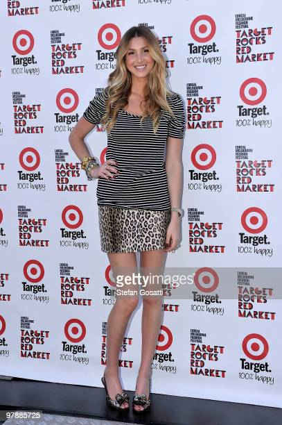 Whitney Port at the Target Rocks Red Market on the final day of the 2010 L'Oreal Melbourne Fashion Festival at Federation Square on March 20 2010 in...