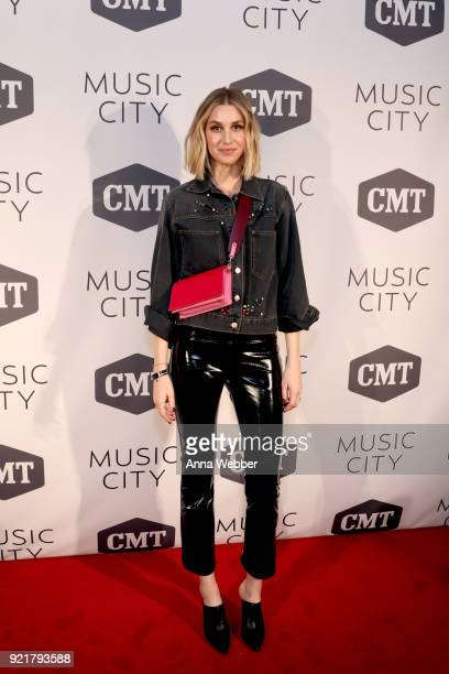Whitney Port attends CMT's 'Music City' premiere party on February 20 2018 in Nashville Tennessee