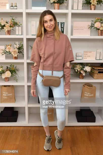 Whitney Port attends Galentine's Day Glow with Biossance hosted by Katherine Schwarzenegger at Alo Yoga Beverly Hills on February 12 2019 in Beverly...