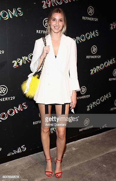 Whitney Port attends Refinery29's Second Annual New York Fashion Week Event '29Rooms' on September 8 2016 in Brooklyn New York