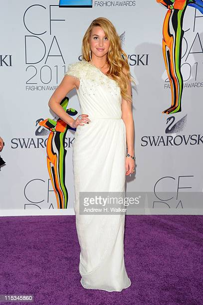 Whitney Port attends the 2011 CFDA Fashion Awards at Alice Tully Hall Lincoln Center on June 6 2011 in New York City