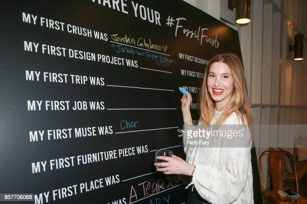 Whitney Port attends the Fossil x The Amber Interiors Launch Dinner at Lombardi House on October 4 2017 in Los Angeles California