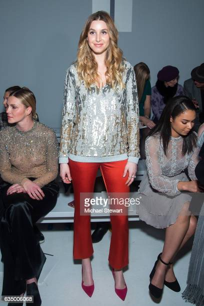 Whitney Port attends the Jenny Packham fashion show during February 2017 New York Fashion Week The Shows at Gallery 3 Skylight Clarkson Sq on...