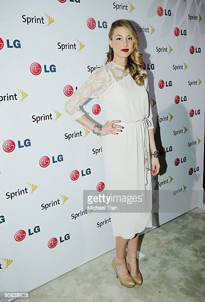 Whitney Port attends the LG Lotus Elite Party held at The Palms Place Penthouse Suite held on January 7 2010 in Las Vegas Nevada