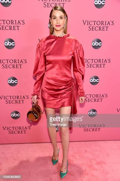 Whitney Port attends the Victoria's Secret Fashion Show at Pier 94 on November 8 2018 in New York City