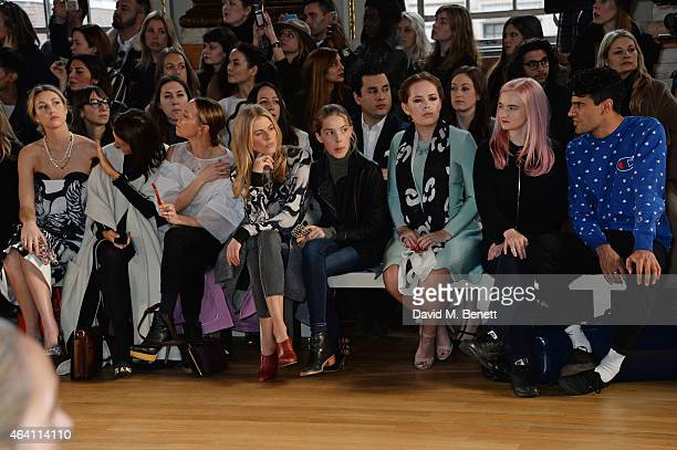 Whitney Port Hikari Yokoyama Tiphaine de Lussy Donna Air daughter Freya Air Aspinall Tanya Burr Grace Chatto and Milan Neil AminSmith watch from the...