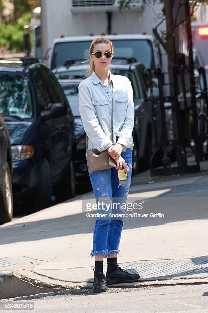 Whitney Port is seen on May 25 2016 in New York City