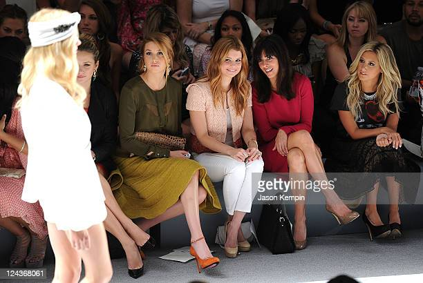 Whitney Port Joanna Garcia JamieLynn Sigler and Ashley Tisdale attend the Luca Luca Spring 2012 fashion show during MercedesBenz Fashion Week at The...
