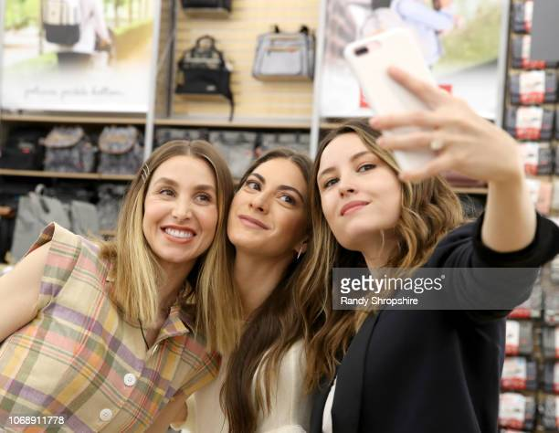 Whitney Port Lauren Gores and Geri Hirsch attend the Whitney Port Bundle Organics #MomAsYouAre buybuyBABY product launch on November 17 2018 in...