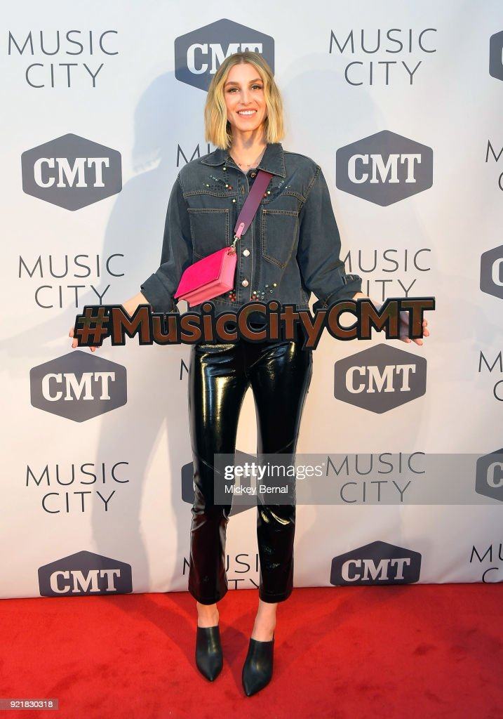 Whitney Port of MTV's 'The Hills' attends CMT's 'Music City' Premiere Party at The Back Corner on February 20, 2018 in Nashville, Tennessee.