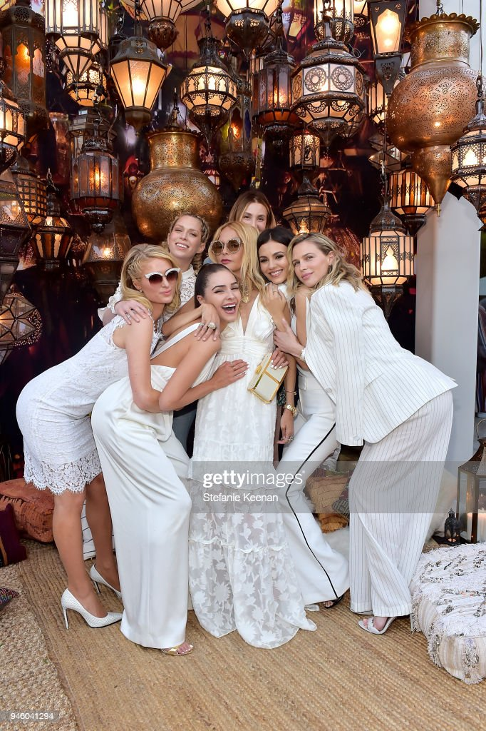 Whitney Port, Olivia Culpo, Paris Hilton, Rachel Zoe, Victoria Justice, Sara Foster and Erin Foster attends ZOEasis 2018 at Parker Palm Springs on April 13, 2018 in Palm Springs, California.