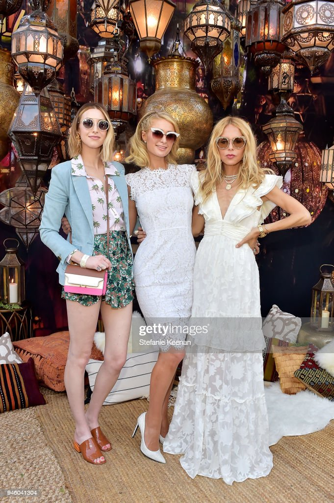 Whitney Port, Paris Hilton and Rachel Zoe attend ZOEasis 2018 at Parker Palm Springs on April 13, 2018 in Palm Springs, California.
