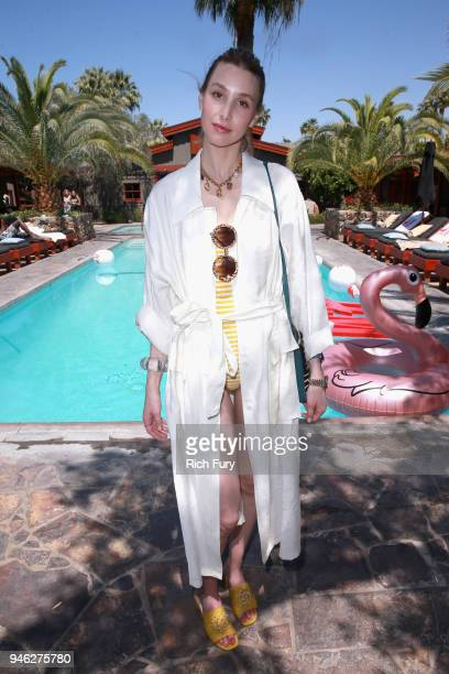 Whitney Port poolside with HM at The Sparrows Lodge on April 14 2018 in Palm Springs California