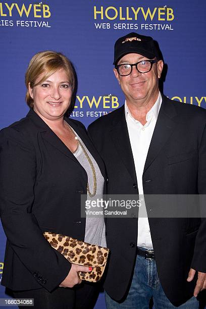 Whitney Rosenson and David Cohen attend the 2nd annual HollyWeb Festival at Avalon on April 7 2013 in Hollywood California