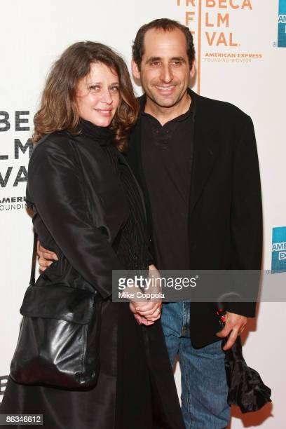 """Whitney Scott and Peter Jacobson attend the premiere of """"Poliwood"""" during the 8th Annual Tribeca Film Festival at the BMCC Tribeca Performing Arts..."""