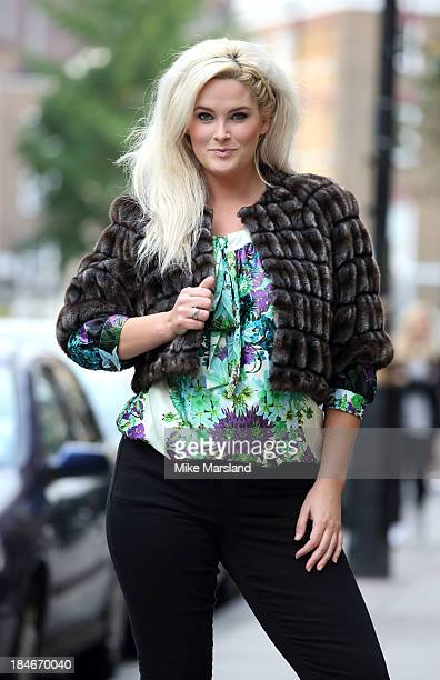 Whitney Thompson launches Beauty In Curves SLiNK boutique's pop up shop in Marylebone from October 14th 20th on October 15 2013 in London England