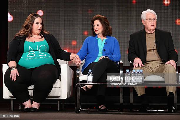 Whitney Thore Founder of No Body Shame Campaign Barbara Thore and Glenn Thore speak onstage during TLC's 'My Big Fat Fabulous Life' panel at...