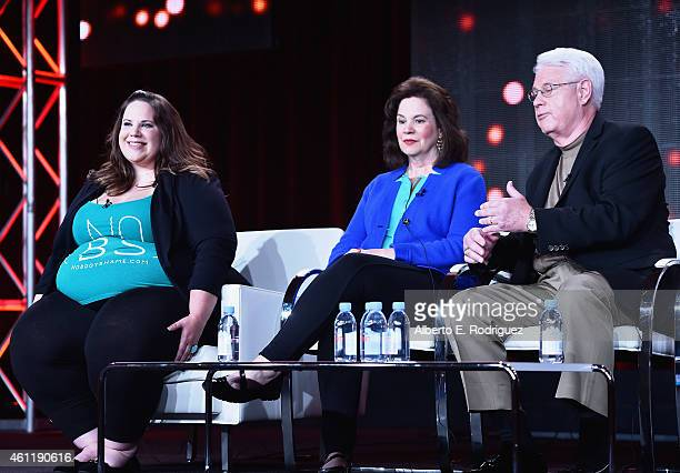 Whitney Thore Founder of No Body Shame Campaign Barbara Thore and Glenn Thore speak onstage during TCL's 'My Big Fat Fabulous Life' panel at...
