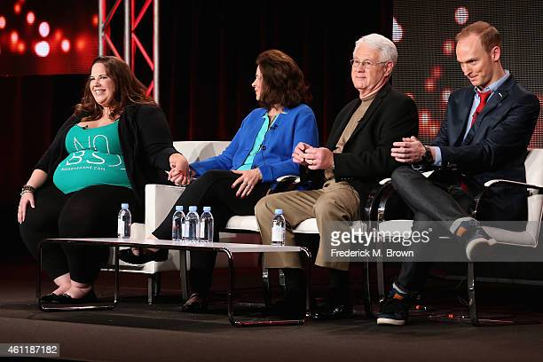 Whitney Thore Founder of No Body Shame Campaign Barbara Thore Glenn Thore and Tal Fish speak onstage during TLC's 'My Big Fat Fabulous Life' panel at...