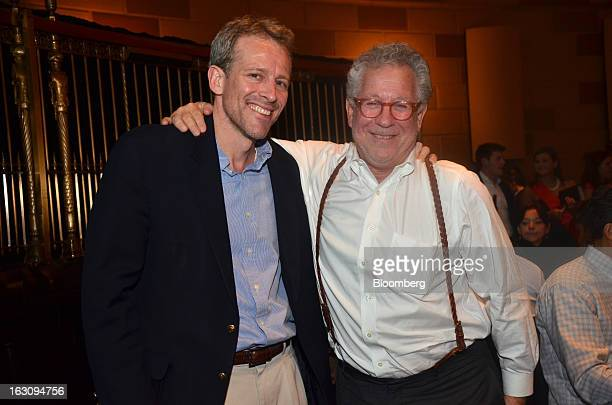 Whitney Tilson, managing director at T2 Partners LLC, left, and Douglas Kass, president of Seabreeze Partners Management Inc., stand for a photograph...