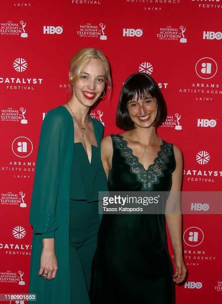Whitney Uland and Nora Kaye attend the Catalyst Content Awards Gala on October 13 2019 in Duluth Minnesota