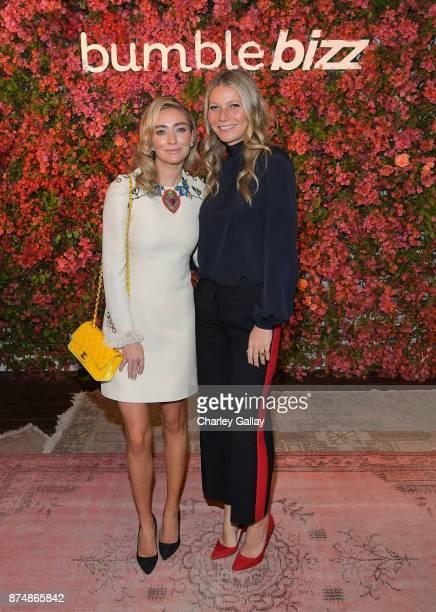 Whitney Wolfe Herd and Gwyneth Paltrow attend Bumble Bizz Los Angeles Launch Dinner At Nobu Malibu at Nobu Malibu on November 15 2017 in Malibu...