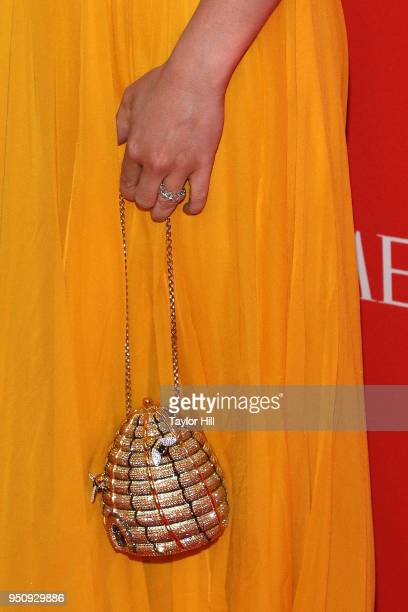 Whitney Wolfe Herd, bag detail, attends the 2018 Time 100 Gala at Frederick P. Rose Hall, Jazz at Lincoln Center on April 24, 2018 in New York City.