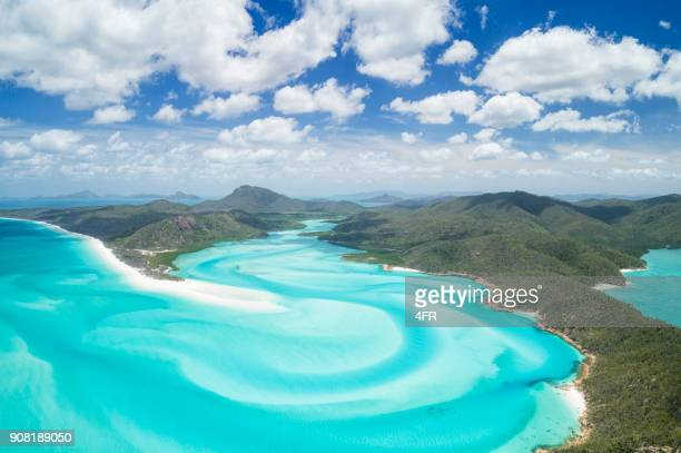 whitsunday islands, great barrier reef, queensland, australia - queensland stock pictures, royalty-free photos & images