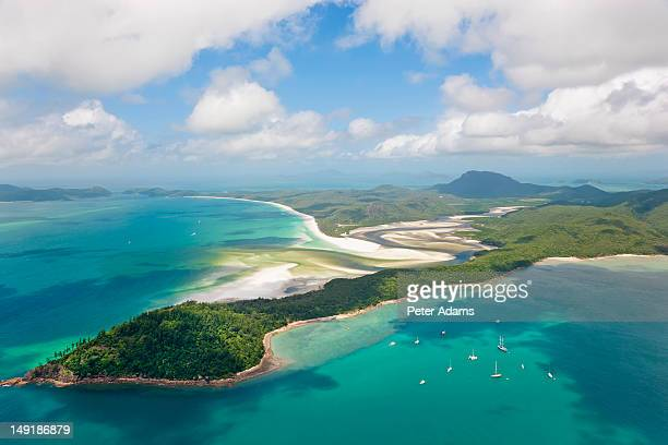 whitsunday islands, queensland, australia - whitsunday island stock photos and pictures