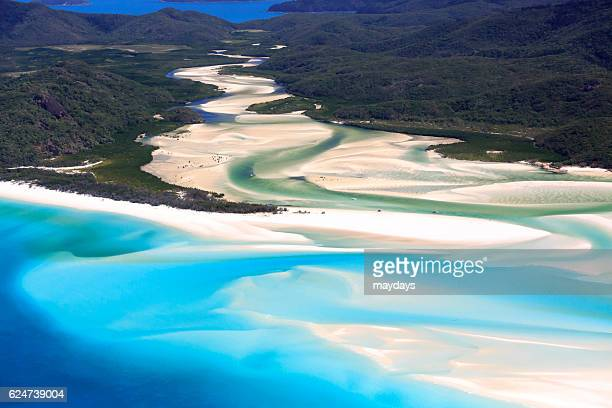 Whitsundays islands aerial view, Australia