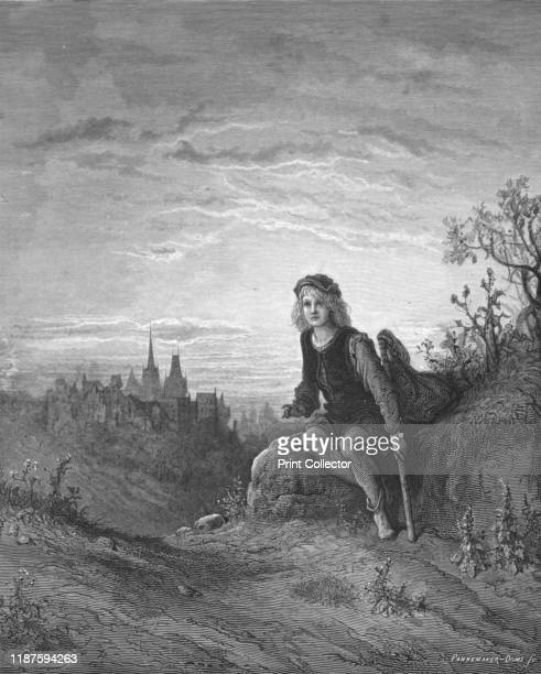 Whittington at Highgate' 1872 Dick Whittington hears the sound of Bow bells promising he would be London Mayor of London from Highgate Hill From...
