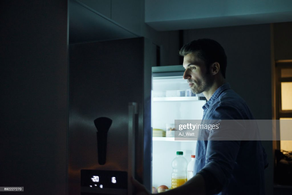Who can resist a midnight snack? : Stock Photo