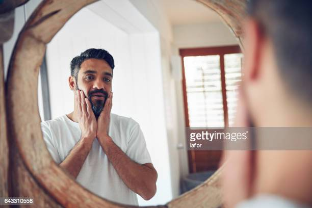 who is this man i've become? - beard stock pictures, royalty-free photos & images