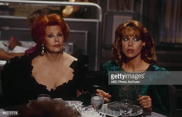 """Who Killed Waxwell Thorn?"""" which aired on February 27, 1987. ARLENE DAHL;JENILEE HARRISON"""