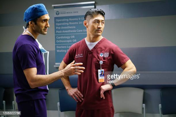 MED Who Knows What Tomorrow Brings Episode 507 Pictured Dominic Rains as Crockett Marcel Brian Tee as Dr Ethan Choi