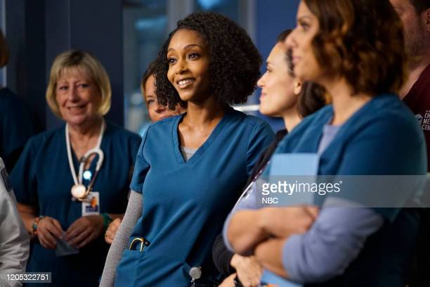 MED Who Knows What Tomorrow Brings Episode 507 Pictured Yaya DaCosta as April Sexton Torrey Devitto as Dr Natalie Manning