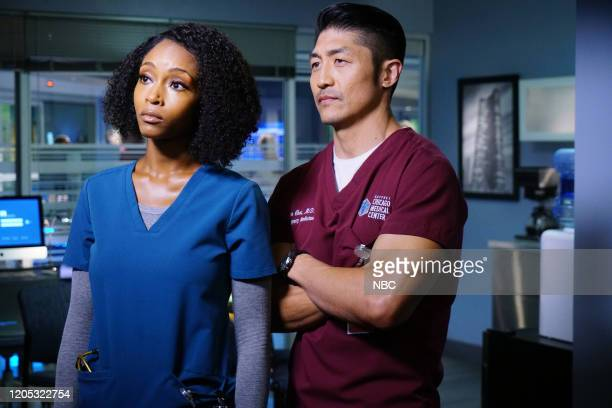 MED Who Knows What Tomorrow Brings Episode 507 Pictured Yaya DaCosta as April Sexton Brian Tee as Dr Ethan Choi