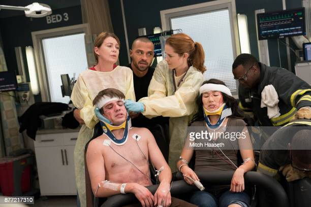 S ANATOMY 'Who Lives Who Dies Who Tells Your Story' After a roller coaster car falls off the track at the county fair the doctors at Grey Sloan tend...