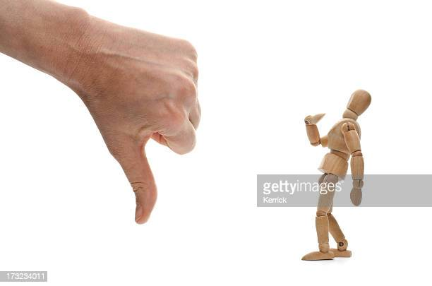 who? me? wooden mannequin and hand of .... God?
