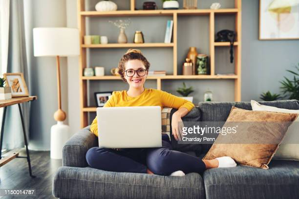 who said you can't be productive in your comfort zone? - surfing the net stock pictures, royalty-free photos & images