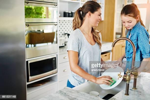 Wer hat gesagt, Sie kann nicht verbinden, während der Hausarbeit?